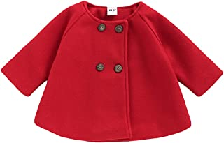 Toddler Baby Girls Autumn Winter Clothes Button Cardigan Cloak Warm Thick Coat