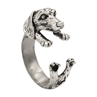 Antique Bronze Bear Animal Wrap Rings Gift for Women and Girls Unique Ring Fashion Jewelry Adjustable