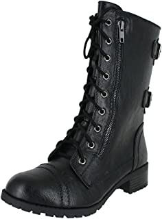soda dome combat boots black