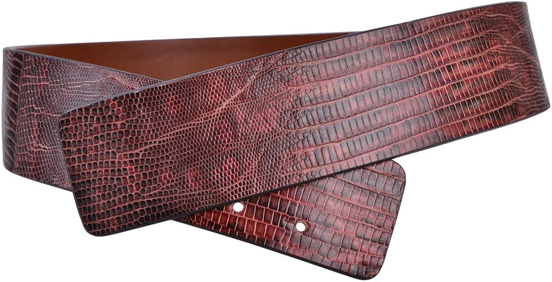 Agnona Belt Women's Red Lizard leather 90