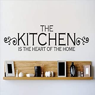 Design with Vinyl OMG 489 Black The Kitchen Is The Heart Of The Home Quote Lettering Decal Home Decor Kitchen Living Room ...