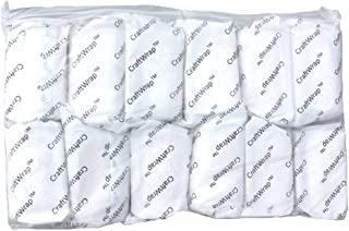 CraftWrap - Plaster Cloth Gauze Bandage for Scenery, Crafts, Belly Cast - Each Roll 4 inch x 15 feet (12 Pack)