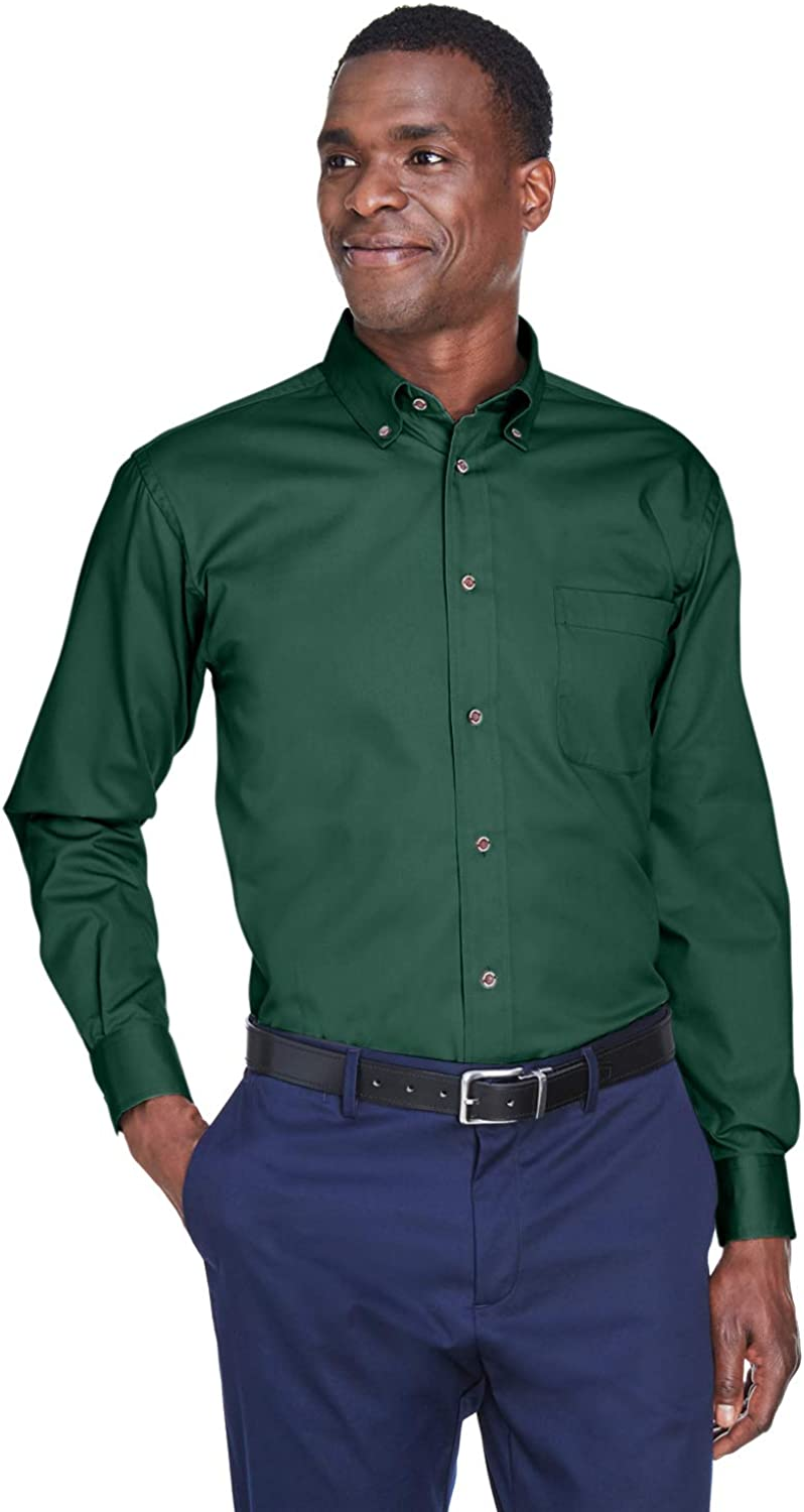 Men's Easy Blend Long-Sleeve Twill Shirt with Stain-Release