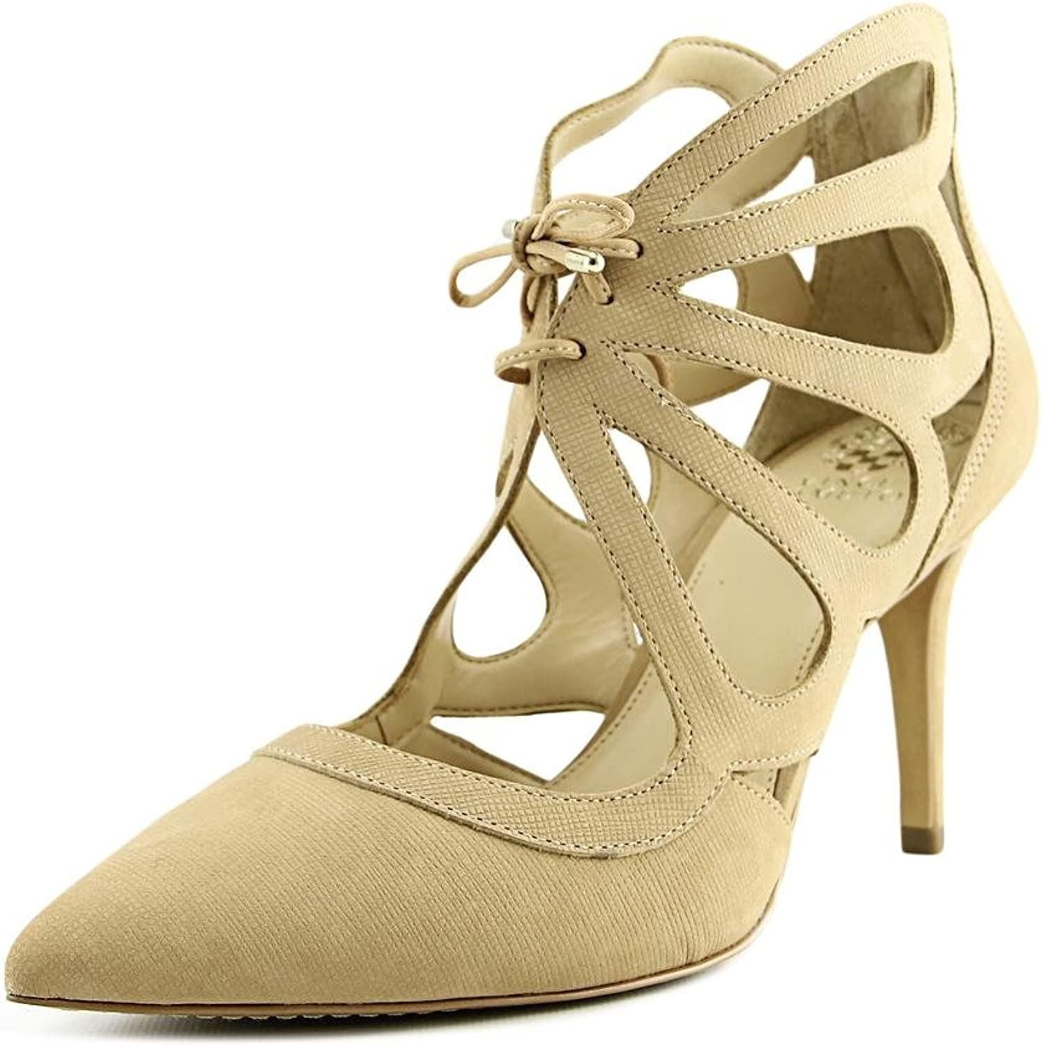Vince Camuto Womens Ballana Leather Pointed Toe Casual Strappy Sandals