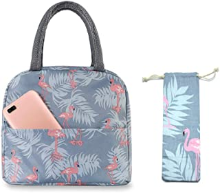 Insulated Lunch Bag Tote Bag for Women Wide Open Insulated Cooler Bag Water-Resistant Thermal Leak-Proof Lunch Organizer f...