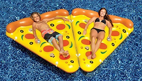 2) NEW Swimline 90645 Swimming Pool Inflatable Pizza Slice Float Rafts Fun...