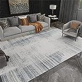 Kunsen Alfombra Comedor Diseño Simple amarino Beige Gris Alfombra de Terciopelo alfombras 140X200cm