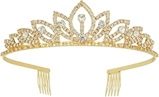 Wedding Tiara with Comb Bridal Shining Rhinestones Crystal Headband Pageant Princess Bridal Prom Decoration Party Wear