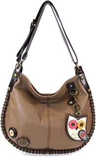 FREE Shipping on eligible orders. Chala Faux Leather Charming Hobo Bag  Brown 8379dc453afc1
