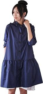 PENGFEI レインコートポンチョ 防水 ウインドブレーカー 歩くことによる旅行 通気性のある 快適 美しい 女性 (色 : 青, サイズ さいず : M)