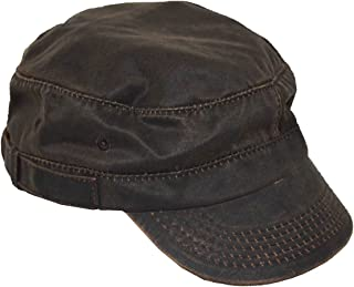 DPC Men s Castro Style Cadet Shape Cotton Army Cap Brown 56a745534cdd