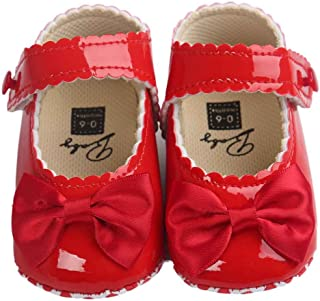 Girls Princess Shoes,Fashion Toddler Bowknot Anti-Slip Sneaker Soft Sole Toddler Shoe