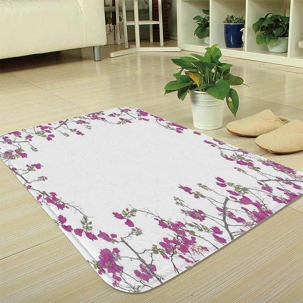 YOLIYANA Water Absorption Non-Slip Mat,Flower Decor,for Corridor Study Room Bathroom,35.43