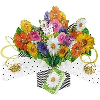 Fleurs Second Nature Pop Ups Carte D Anniversaire Avec Inscription Pour Vous Sur Votre Anniversaire Amazon Fr Fournitures De Bureau