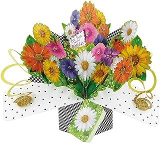 Second Nature Birthday Gerberas Flowers Pop Up Greeting Card - POP143