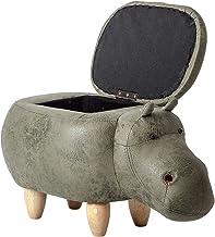 Kruk Massief Houten Voetenbank-Ottoman Sofa Kruk Opslag Kruk Verandering Schoenenbank, Creatief Meubilair Nijlpaard Model ...