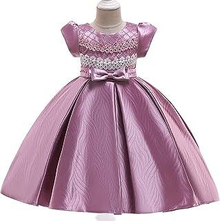 YGCLOTHES Vestidos para Niñas Boda Sin Mangas Faldas de Tul Princesa Bowknot Las Baile Tutu Graduación Novia Elegante Fies...