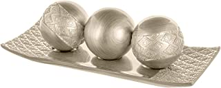 Dublin Decorative Tray and Orbs/Balls Set of 3, Centerpiece Bowl with Balls decorations..