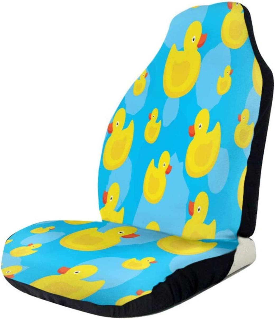Cute Yellow Ducks Front Seat Auto Premium Large discharge sale Cover Seats Year-end gift Protectors