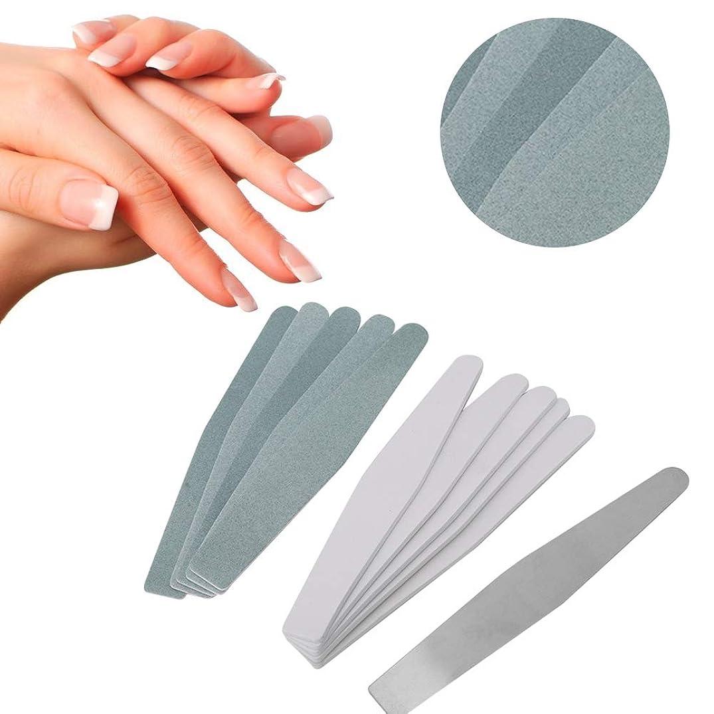 稚魚笑いタイピストネイルアート 緩衝ファイル 磨く釘の芸術のための取り替え可能なステンレス鋼の釘砂棒(01)
