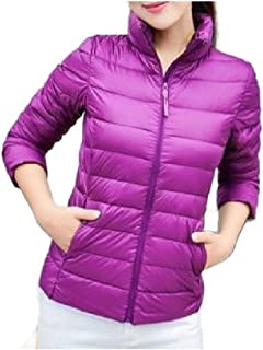 neveraway Women's Plus Size Lightly Stand-up Collar Packable Parka Jacket