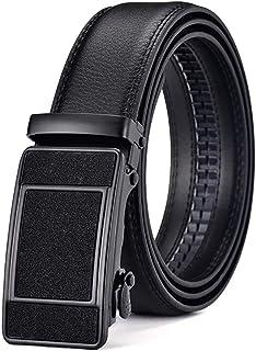 أحزمة جلد فاخرة للرجال ، حزام ذكر معدني أوتوماتيكي مشبك معدني