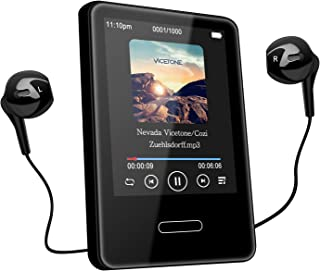 Tenswall MP3 Player with Bluetooth 4.2, MP3 Player 16GB Music Player with 2.8'' Touch Full Screen, Voice Recorder,Video Play, Wrist Belt, Mini MP3 Player Bluetooth Support up to 128GB