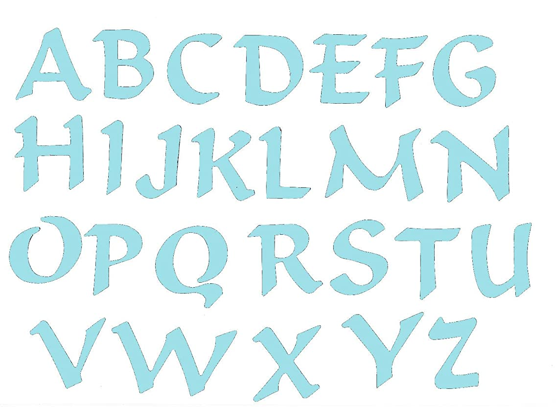 Self Adhesive Felt Letter Set - Sky Blue