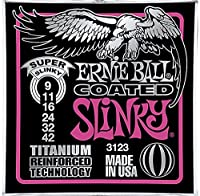3 Sets of 3123 Ernie Ball Coated Super Slinky Electric Guitar Strings 9-42 [並行輸入品]