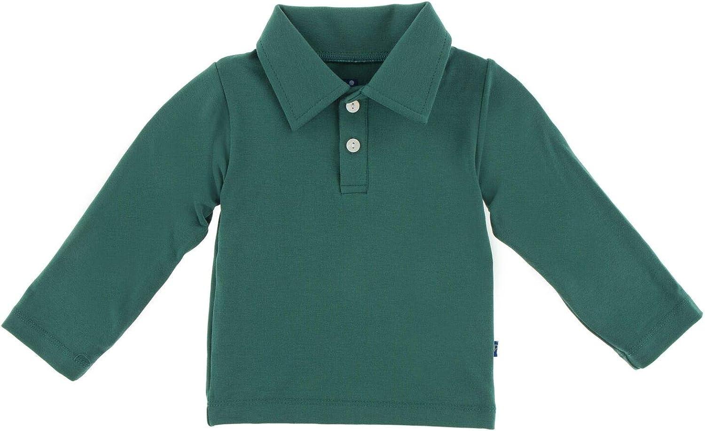 KicKee Pants Solid Long Sleeve Performance Jersey Polo