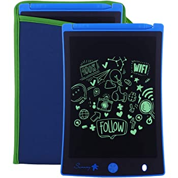 JIANGXIUQIN LCD Board Colorful LCD Electronic Writing Tablet Handwriting Paper Drawing Tablet at Home Office Outdoor Christmas Thanksgiving Gift Color : Blue, Size : 8.5 inches