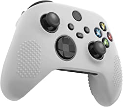 Insten Controller Grip Case Compatible with Xbox Series X/S, Protective Silicone Cover, Anti-Slip, White