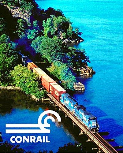 "Conrail ""Along the Hudson"" 8"" x 10"" Metal Sign"
