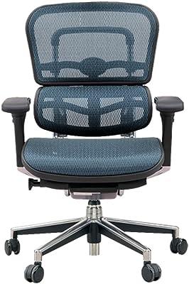 エルゴヒューマン ベーシック オフィスチェア ブルー ヘッドレスト無し エラストメリックメッシュ ergohuman BASIC EH-LAM KM-15