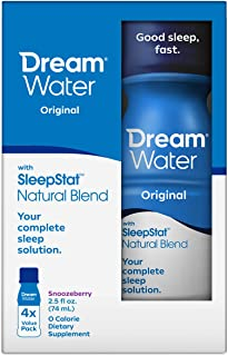 Sponsored Ad - Dream Water Natural Sleep Aid; GABA, MELATONIN, 5-HTP, 2.5oz Shot, Snoozeberry, 4 Count