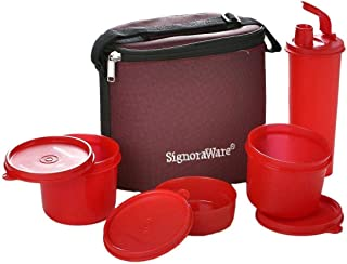 Signoraware Medium Combo Executive Lunch with Bag, Red