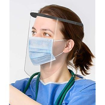 Oakridge Face Shields | 2 Pack | Medical Grade | High Optic Shield | Light  Weight | Maximum Eye Protection | ADJUSTABLE Plastic Headband | Anti Fog |  NOT made in China - - Amazon.com
