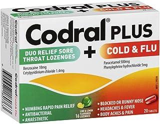 Codral Cold & Flu Decongestant + Sore Throat Lozenges,