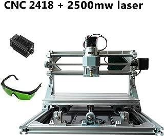 zmart USB CNC2418 ルーター + 2500mW 強力レーザー 加工機 小型 卓上 旋盤 レーザープリンター 印刷 彫刻機 DIY ER11スピンドル 日本語取説