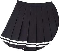 2019 high Waist Pleated Skirts Lolita a-line Sailor Skirt Large Size Preppy School Uniform