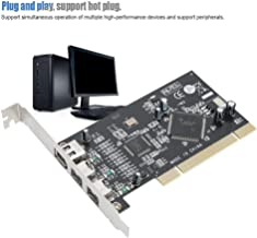 Wendry Video Capture Card,ST24 PCI 1394A+1394B Video Acquisition Capture Card with SN082AA2+TSB81BA3 Dual Chipset (Multiple high-Performance Devices,Peripherals,Plug and Play)