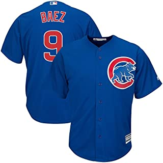 Majestic Javier Baez Chicago Cubs MLB Youth Blue Alternate Cool Base Replica Jersey (Youth Medium 10-12)