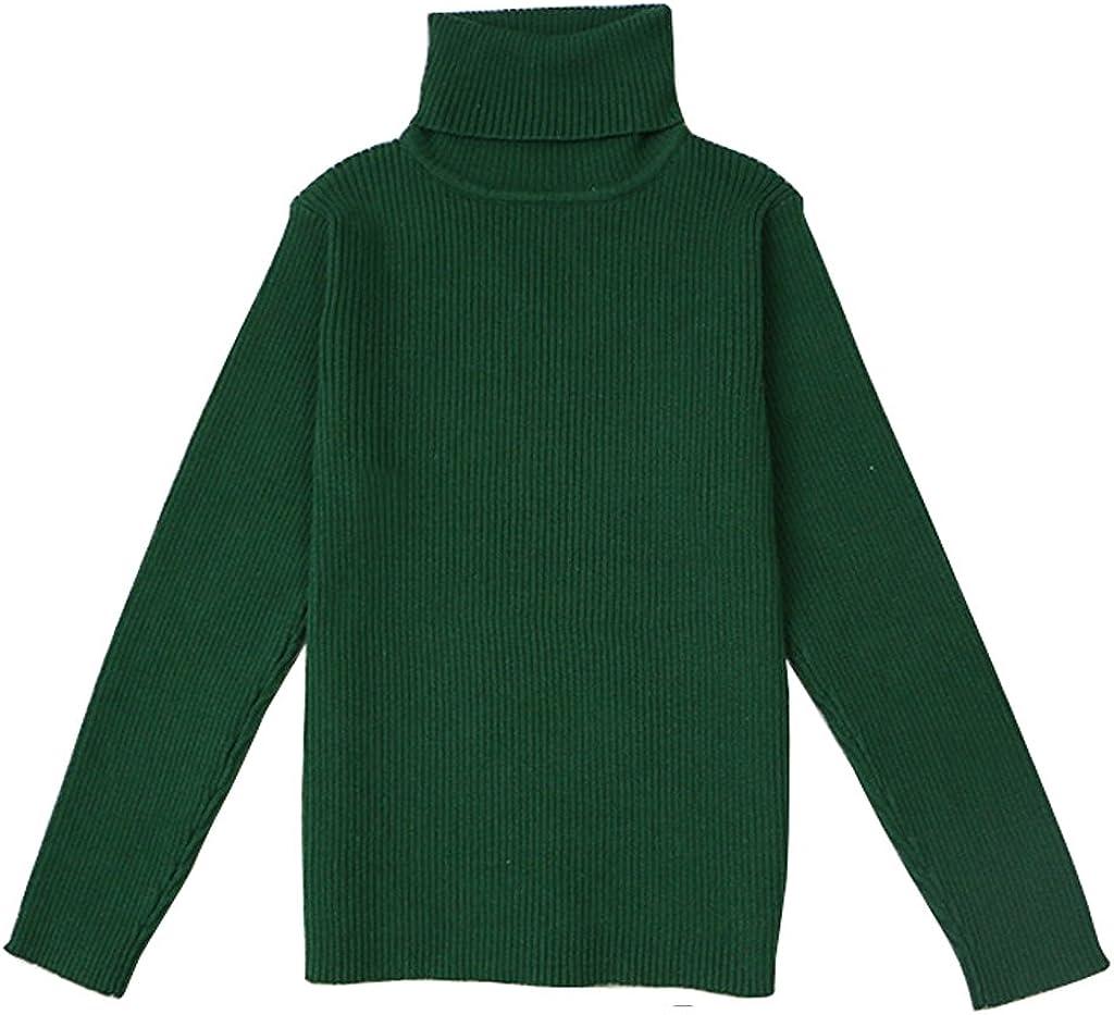 1-5T VduanMo Little Girls /& Boys Solid Turtleneck Cotton Sweater Coats