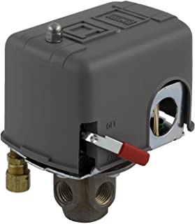 Square D by Schneider Electric 9013FHG44J59M1X Air-Compressor Pressure Switch, 175 Psi Set Off, 40 Psi Fixed Differential, 4-Way Flange, 2-Way Release Valve, Auto/Off Cut-Out Lever