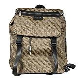 Guess Rucksack für Herren, bedruckter Stoff, 15 Zoll, Taupe, Braun, Tasche für Gegenstände und Handgepäck
