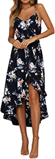 Sexy Dresses for Women,Womens Holiday Plunge Ladies Maxi Long Summer Floral Print Beach Dress