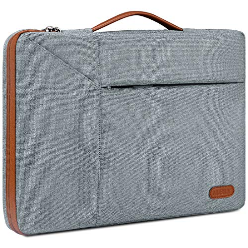 15.6 Inch Laptop Sleeve Case Waterproof 360 Protective Laptop Sleeve Bag Work Business Computer Case for 15.6 Inch MacBook Air/Pro Notebook Portable Handle Laptop Bag,Space Grey