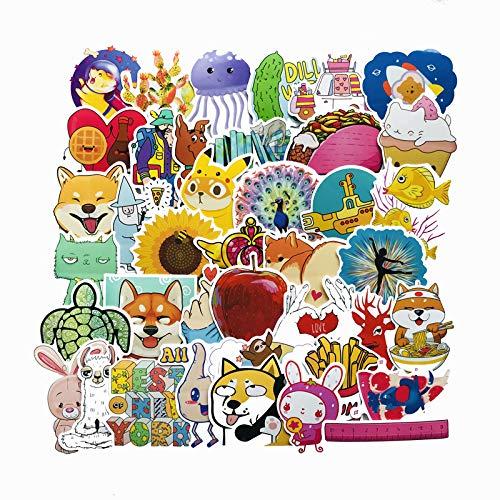 PMSMT 40PCS Cute Animal Children Cartoon Sticker para Laptop Moto Skateboard Equipaje Refrigerador Notebook Case Toy Stickers F5