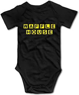 Cute Kids Waffle House Baby Boys Girls Bodysuits Clothes Short Sleeve Cotton Jumpsuit Romper Onesies T Shirt