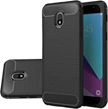 Vinve Carbon Fiber TPU Case Compatible Samsung Galaxy J3 2018, J3 V 3rd Gen, Express Prime 3, J3 Orbit, J3 Star, J3 Achieve, Amp Prime 3 (Black)